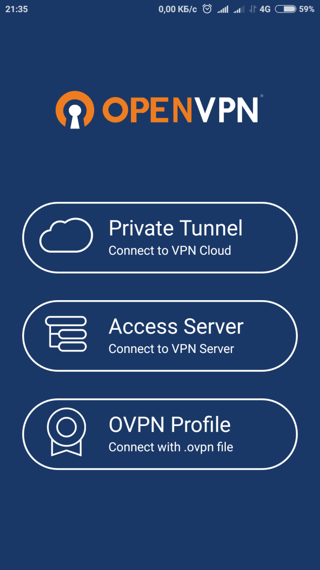 Android OpenVPN Connect